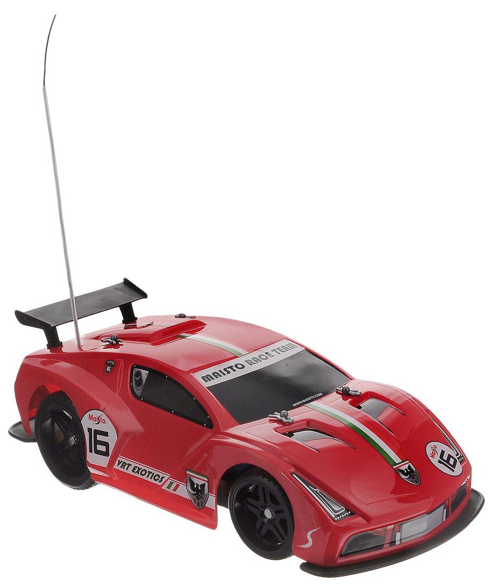 Maisto Машина на радиоуправлении Express Lane VRT-16 цвет красный81200_красныйРадиоуправляемая модель Maisto Express Lane VRT-16 с ярким привлекающим внимание дизайном обязательно понравится всем любителям гоночных автомобилей. Корпус выполнен из высококачественного пластика. Машина представляет собой копию машины, уменьшенную в 14 раз. Двигается в нескольких направлениях: вперед, назад, вправо, влево. Автомобиль оснащен профессиональным передатчиком с частотой 27 MHz. Управление с помощью дистанционного пульта управления (поставляется в комплекте). В комплекте инструкция по эксплуатации на русском языке. Для работы машины необходимо докупить 6 батареек напряжением 1,5V типа АА (в комплект не входят). Для работы пульта управления необходимо докупить 2 батарейки напряжением 1,5V типа ААА (в комплект не входят).