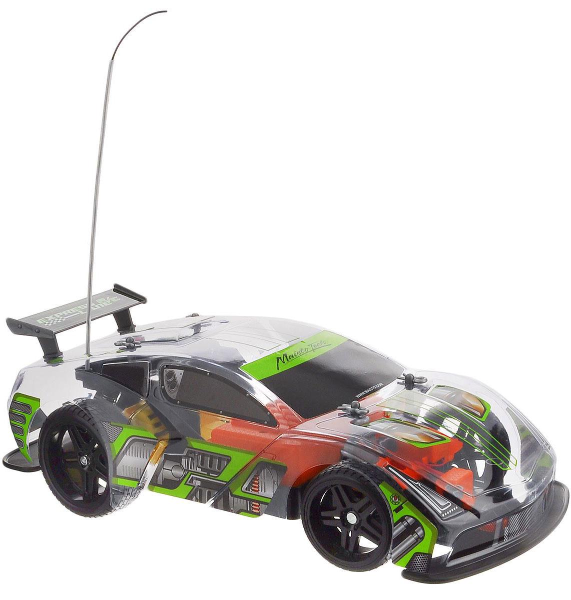 Maisto Машина на радиоуправлении Express Lane VRT-16 цвет прозрачный81200_прозрачныйРадиоуправляемая модель Maisto Express Lane VRT-16 с ярким привлекающим внимание дизайном обязательно понравится всем любителям гоночных автомобилей. Корпус выполнен из высококачественного пластика. Машина представляет собой копию машины, уменьшенную в 14 раз. Двигается в нескольких направлениях: вперед, назад, вправо, влево. Автомобиль оснащен профессиональным передатчиком с частотой 27 MHz. Управление с помощью дистанционного пульта управления (поставляется в комплекте). В комплекте инструкция по эксплуатации на русском языке. Для работы машины необходимо докупить 6 батареек напряжением 1,5V типа АА (в комплект не входят). Для работы пульта управления необходимо докупить 2 батарейки напряжением 1,5V типа ААА (в комплект не входят).