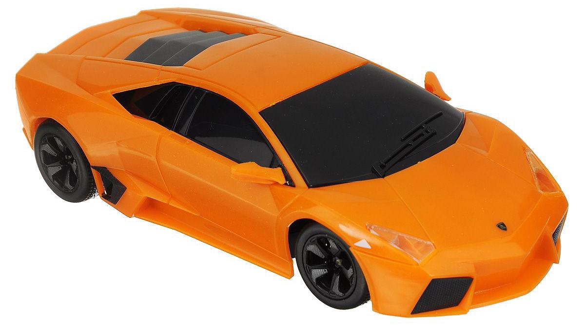 Maisto Радиоуправляемая модель Lamborghini Reventon цвет оранжевый81055_оранжевыйРадиоуправляемая модель Maisto Lamborghini Reventon с ярким привлекающим внимание дизайном обязательно понравится всем любителям красивых гоночных машин. Корпус выполнен из высококачественного пластика. Машина представляет собой копию, уменьшенную от реального прототипа в 24 раза. Машина высокодетализирована, с настоящими зеркалами.