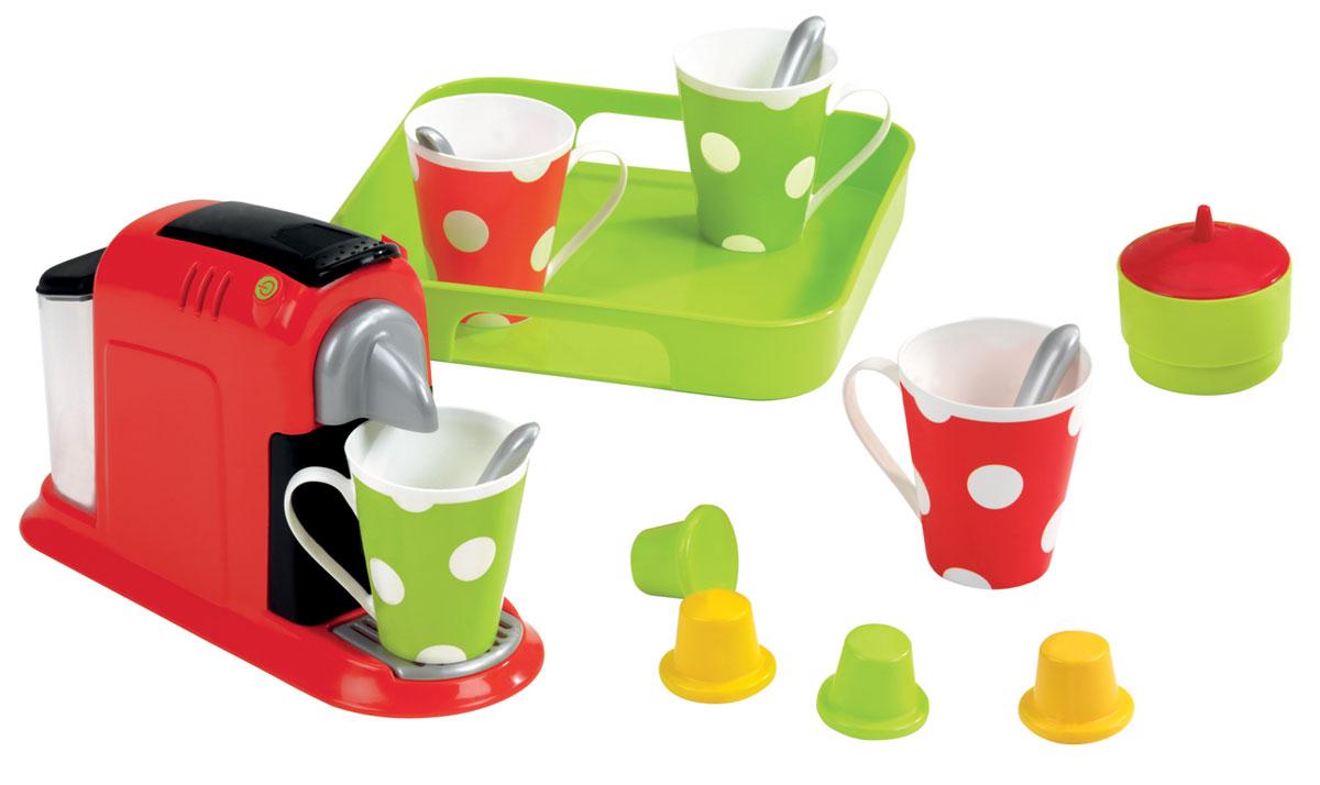 Ecoiffier Игровой набор Эспрессо2614Игровой набор Ecoiffier Эспрессо обязательно понравится любителям готовить и накрывать на стол. Малышка с радостью приготовит все до прихода гостей: любимых кукол или подружек. Все предметы выполнены из высококачественного пластика, что гарантирует безопасность игры даже самым маленьким. В наборе имеется: кофеварка, поднос, 4 чашки, 4 ложки, сахарница с крышкой, капсулы для создания кофейных напитков. Игровой набор Ecoiffier Эспрессо непременно пригодится для различных сюжетно-ролевых игр. С этим удивительным набором ваш ребенок сможет приготовить себе, своим друзьям и игрушкам восхитительный кофе и приятно провести с ними время за обеденным столом. Порадуйте своего ребенка таким необычным подарком!