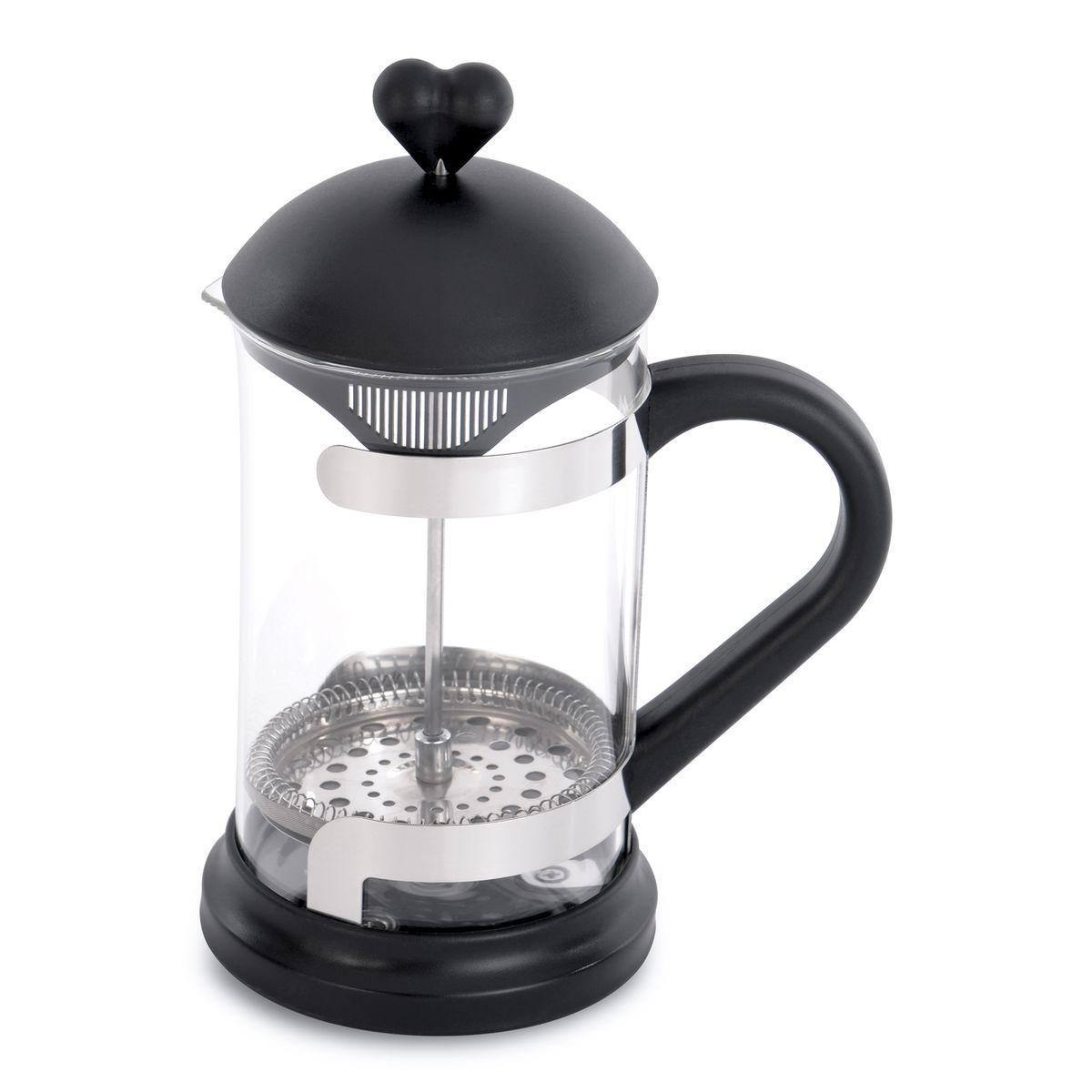 Прес для чая или кофе 0,8 л. 38000223800022Поршневой заварник для кофе/чая 16,50 x 11,00 x 22,50 см, 0,80 л LOVER BY LOVER выполнен из термостойкого боросиликатного стекла, енагревающиеся ручки из высококачественного синтетического материала. Тонкий сетчатый фильтр сохраняет заварку внутри пресса, не позволяя ей попасть в чашку. Удобно использовать, легко чистить . Рекомендуется мыть вручную. Упакован в подарочную коробку.