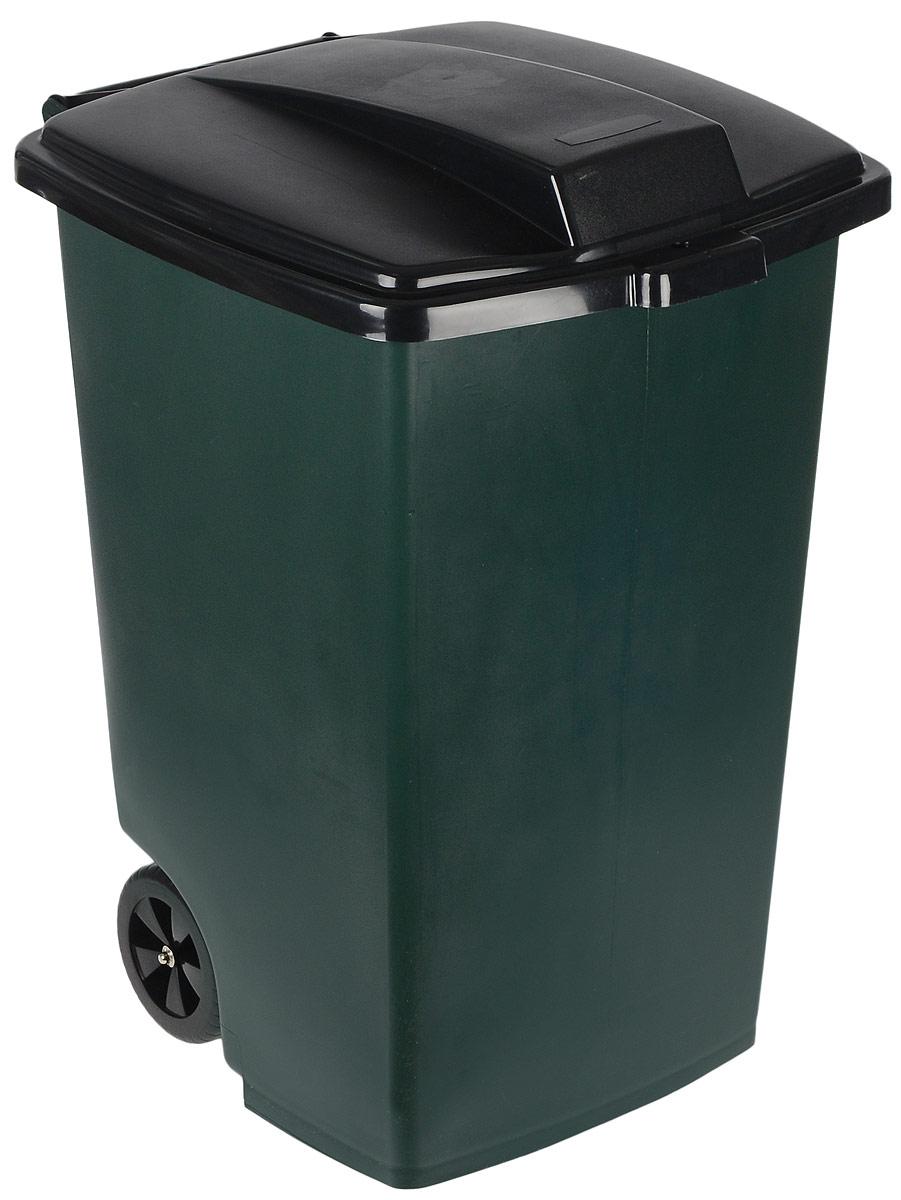 Контейнер для мусора Curver, на колесах, 100 л5183Контейнер для мусора Curver, изготовленный из высококачественного пластика, оснащен колесиками, эргономичной ручкой и плотно закрывающейся крышкой. Крышка бесшумно, плотно прилегает, предотвращая распространение запаха. Бороться с мусором станет легко. Благодаря лаконичному дизайну такой контейнер идеально впишется в любой интерьер. Изделие пригодно для использования на садово-огородном участке, в доме или офисе.