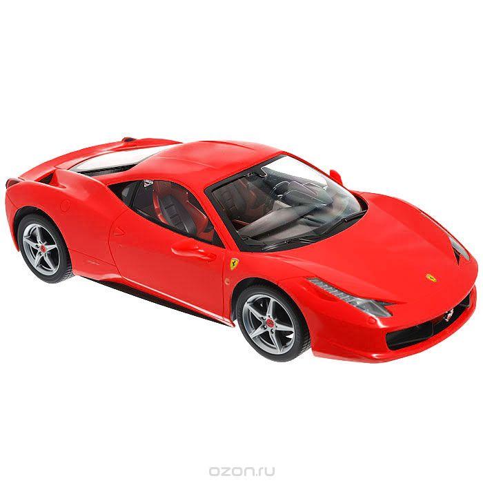 Rastar Радиоуправляемая модель Ferrari 458 Italia цвет красный масштаб 1:1447300Радиоуправляемая модель Ferrari 458 Italia со световыми эффектами, являющаяся точной копией итальянского спортивного автомобиля, - отличный подарок не только ребенку, но и взрослому. Автомобиль с литым корпусом изготовлен из современных прочных материалов и обладает высокой стабильностью движения, что позволяет полностью контролировать его процесс, управляя без суеты и страха сломать игрушку. Основные направления движения автомобиля: вперед-назад-влево-вправо. Движение вперед и назад сопровождается сигнальными световыми эффектами фар. В комплект входят автомобиль, пульт управления и инструкция на русском языке. Автомобиль работает от 5 батарей типа АА, пульт управления - от 1 батареи 9V 6F22 (не входят в комплект).