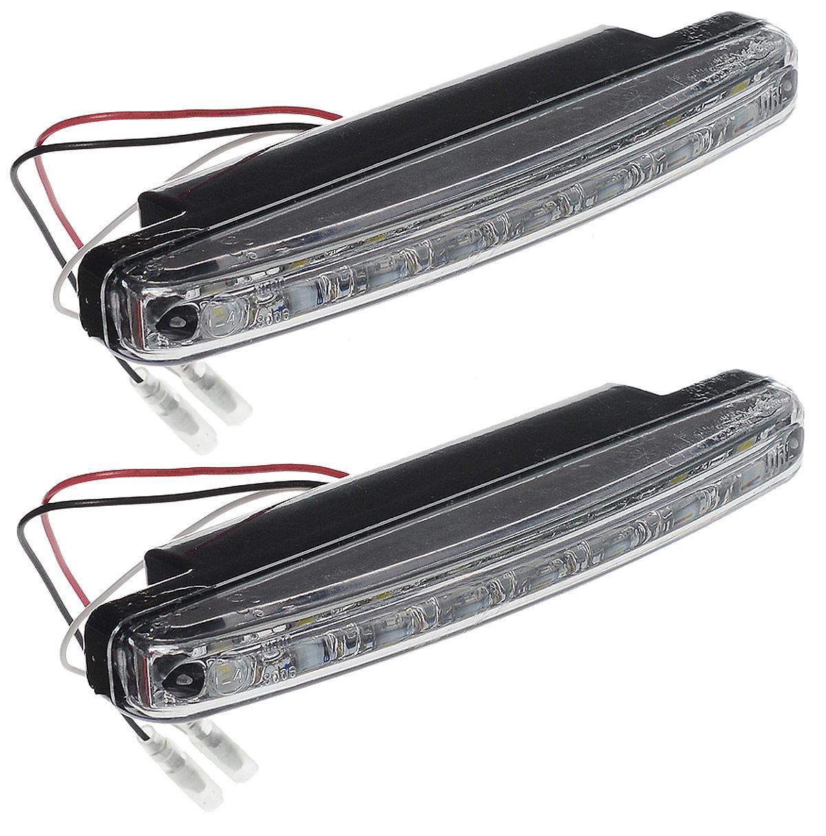 Дневные ходовые огни AVS DL-8S, 2 шт43477Дневные ходовые огни AVS DL-8S - это лампы грузового или легкового автомобиля, используемые для повышения видимости автотранспортного средства в дневное время. Напряжение: 12 В. Мощность: 2,4 Вт х 2. Количество светодиодов: 8 х 2. Модель светодиода: Epistar (SMD 5050 0.3W). Температура свечения: 5000 К. Общий световой поток: 240 Лм. IP защита: 55.