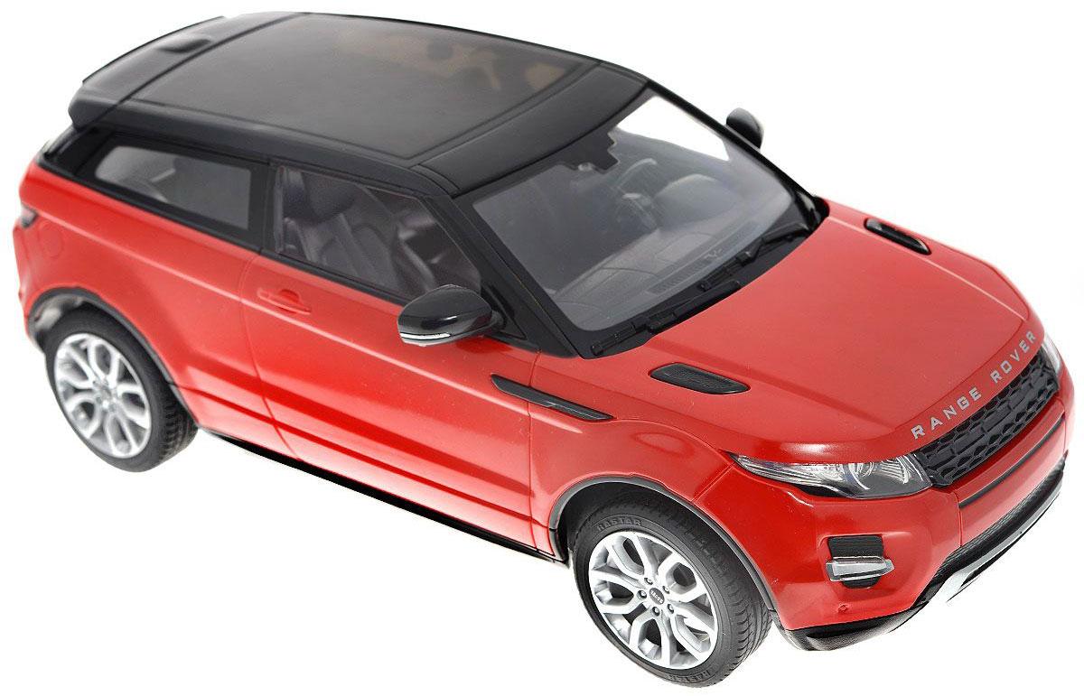 Rastar Радиоуправляемая модель с рулем Range Rover Evoque цвет красный47900-8Радиоуправляемая модель Range Rover Evoque со световыми и звуковыми эффектами, являющаяся точной копией настоящего автомобиля, - отличный подарок не только ребенку, но и взрослому. Автомобиль изготовлен из современных прочных материалов и обладает высокой стабильностью движения, что позволяет полностью контролировать его процесс, управляя без суеты и страха сломать игрушку. Основные направления движения автомобиля: вперед-назад-влево-вправо. При движении вперед у автомобиля горят фары, при движении назад - стоп-сигналы. Пульт управления автомобиля выполнен в виде удобного руля на подставке, что позволяет не только держать его в руках, но и располагать на горизонтальной поверхности. На руле расположены кнопки газа, торможения и кнопка гудка. Во время движения автомобиля кнопка газа должна быть всегда нажата. На подставке руля расположен рычаг коробки передач, включающей в себя 4 положения: 1. D1 - движение вперед с сопутствующим звуком движения из пульта...