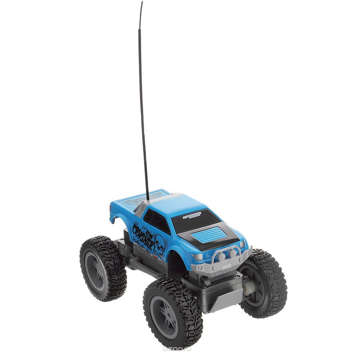 Maisto Машина на радиоуправлении Rock Crawler 4х4 цвет синий81162_голубой_2161Радиоуправляемая модель Maisto Вездеход Rock Crawler 4х4 с ярким привлекающим внимание дизайном обязательно понравится всем любителям машин, в особенности внедорожников. Машинка имеет повышенную проходимость за счет полного привода 4х4, прекрасно передвигается по бездорожью и легко может покорить скалу. Джип имеет мягкую пружинную независимую подвеску с длинным ходом и большие колеса. Машинка двигается вправо, влево, вперед и назад. Управление с помощью дистанционного пульта (поставляется в комплекте). Радиус действия пульта до 15 м. В комплекте инструкция по эксплуатации на русском языке. Необходимо докупить 6 батареек 1,5V типа АА (в комплект не входят).