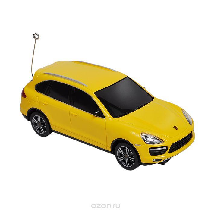 Rastar Радиоуправляемая модель Porsche Cayenne цвет желтый50300Радиоуправляемая модель Rastar Porsche Cayenne со световыми эффектами, являющаяся точной копией настоящего автомобиля, - отличный подарок не только ребенку, но и взрослому. Машина изготовлена из современных прочных материалов и обладает высокой стабильностью движения, что позволяет полностью контролировать его процесс, управляя без суеты и страха сломать игрушку. Основные направления движения автомобиля: вперед-вправо. В комплект входят машина, пульт управления и инструкция на русском языке. Автомобиль работает от 2 батареек типа АА, пульт управления - от 2 батареек АА (не входят в комплект).
