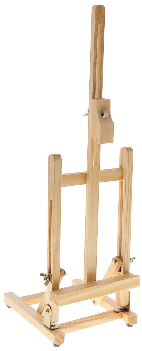 Мольберт настольный Белоснежка, высота 48 см30-BS Мольберт настольный 15х17x48сmНастольный мольберт Белоснежка - это удобный и полезный аксессуар для любителей рисования. Изделие выполнено из дерева и удобно устанавливается на столе. Предназначен для размещения работ на картоне или холсте на подрамнике. Подвижная часть - бегунок, свободно перемещающийся по желобкам мачты. Мольберт на устойчивых резиновых ножках. Мольберты - удобный и полезный аксессуар для любителей рисования. Размер мольберта: 15 см х 17 см х 48 см.