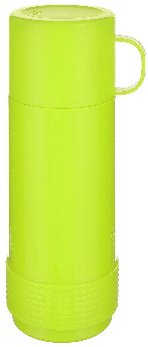 Термос Valira, цвет: салатовый, 0,5 л. 6121/436121/43Термос Valira - это удобный и легкий термос небольшого размера, который сохраняет температуру напитков до 24 часов. Термос выполнен из цветного пищевого пластика, внутри расположена стеклянная колба, а, как известно, стекло позволяет хранить тепло и холод лучше всех других материалов. Если есть необходимость на длительное время сохранить температуру чая, кофе, молока, этот термос будет вашим незаменимым помощником. Герметично закрывается крышкой, не проливается даже при сильной вибрации. Оснащен удобной крышкой-чашечкой, из которой вы с удовольствием можете пить. Подходит для ежедневного использования на работе или учебе, а также для отдыха на природе. Диаметр горлышка: 5,5 см. Высота термоса: 25 см. Диаметр основания: 9 см.