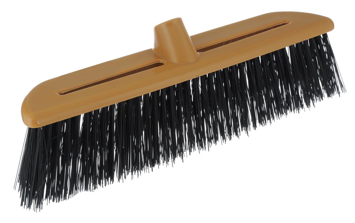 Щетка-насадка Альтернатива, жесткая, цвет: коричневый, черныйМ932Щетка-насадка Альтернатива, изготовленная из прочного пластика, предназначена для уборки на улице. Жесткие и длинные волоски щетки-насадки не оставят от грязи и следа. Оригинальная, современная щетка для швабры, которую можно подобрать к любому интерьеру, сделает уборку эффективнее и приятнее. Универсальная резьба подходит ко всем видам ручек. Общий размер щетки-насадки: 39 см х 7 см х 14 см. Длина ворса: 8 см.