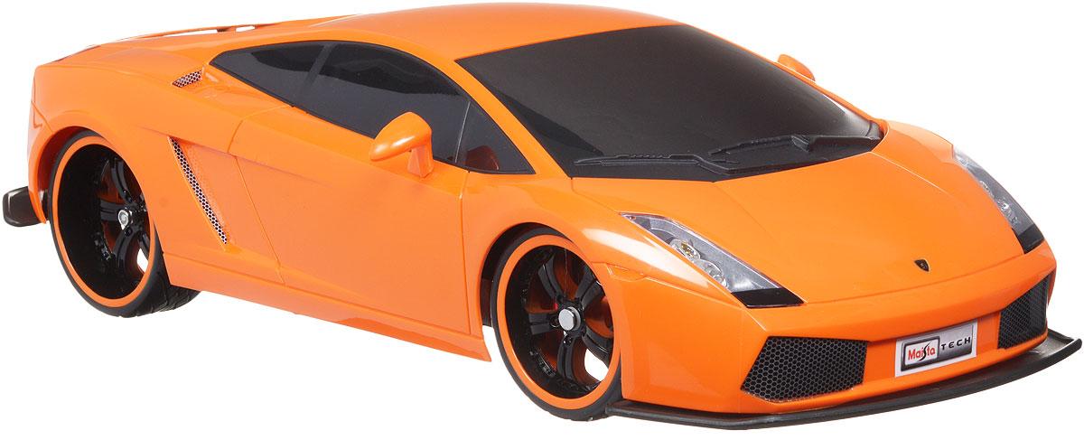 Maisto Радиоуправляемая модель Lamborghini Gallardo цвет оранжевый81021_оранжевыйРадиоуправляемая модель Maisto Lamborghini Gallardo с ярким дизайном обязательно понравится всем любителям красивых машин. Корпус выполнен из высококачественного пластика. Машина представляет собой копию, уменьшенную от реального прототипа в 10 раз. Модель обладает высокой детализацией, двигается во всех направлениях: вперед, назад, влево, вправо. При движении загораются передние фары и задние фонари. Пульт управления работает на частоте 27 МГц. Машина работает от сменного аккумулятора (в комплекте). Для работы пульта управления необходимы 2 батарейки типа АА (товар комплектуется демонстрационными).