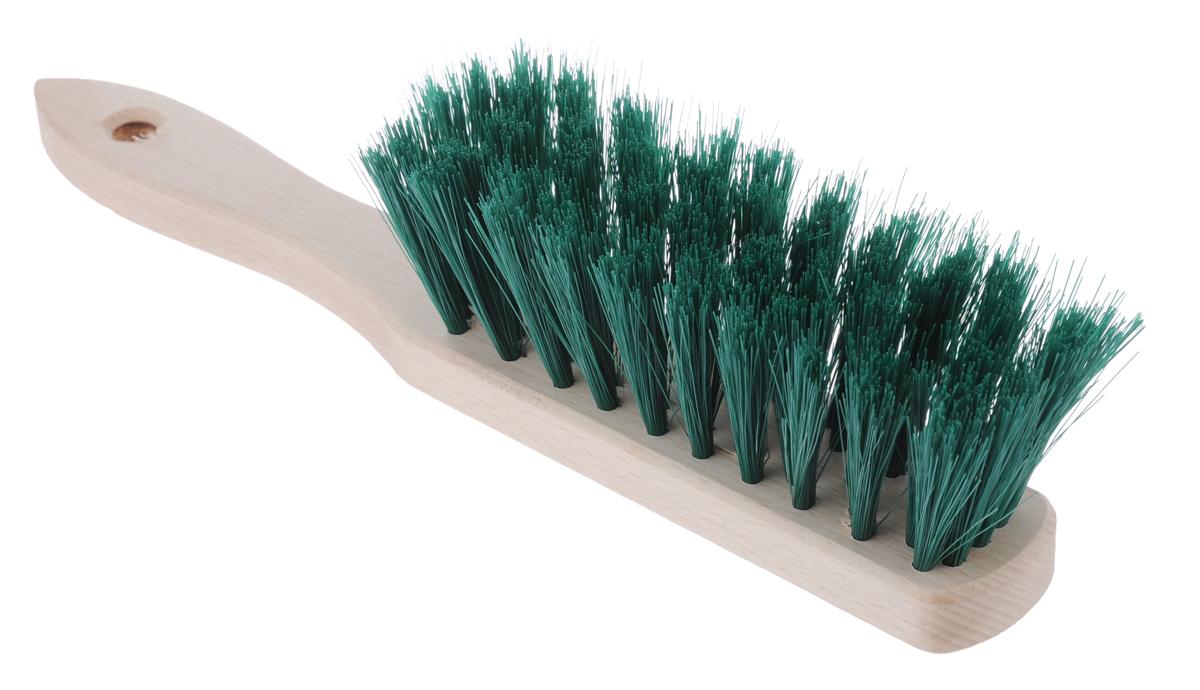 Щетка-сметка York, цвет: темно-зеленый, 28 см х 4 см х 6,5 см0050Щетка-сметка York, изготовленная из дерева и сложных полимеров, оснащена специальным отверстием для подвешивания. Изделие станет незаменимым помощником в деле удаления пыли и мусора с различных поверхностей. Эластичный жесткий ворс на щетке не оставит от грязи и следа. Длина ворса: 5 см.