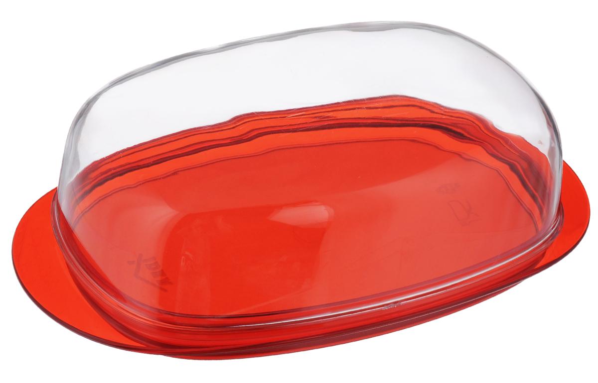 Масленка Idea Кристалл, цвет: красный, прозрачныйМ 1126Масленка Idea Кристалл изготовлена из пищевого пластика. Изделие состоит из подноса и прозрачной крышки. Крышка плотно закрывается, сохраняя масло вкусным и свежим. Масленка Idea Кристалл станет прекрасным дополнением к коллекции ваших кухонных аксессуаров. Размер подноса: 19 см х 10,5 см х 1,5 см. Размер крышки: 16 см х 9,5 см х 5 см.