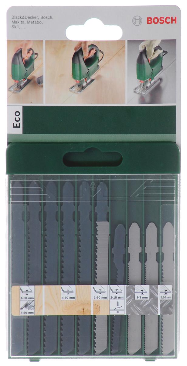 Bosch Set T Eco набор из 10 лобзиковых пилок 26092567542609256754