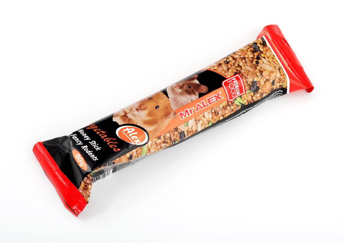 Медовая палочка для грызунов Mr.Alex Овощи, 80 г1036