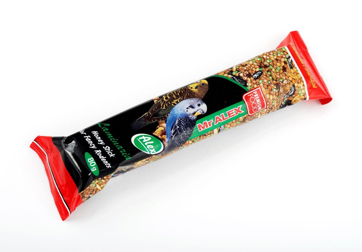 Медовая палочка для волнистых попугаев Mr.Alex Морская капуста, 80 г718