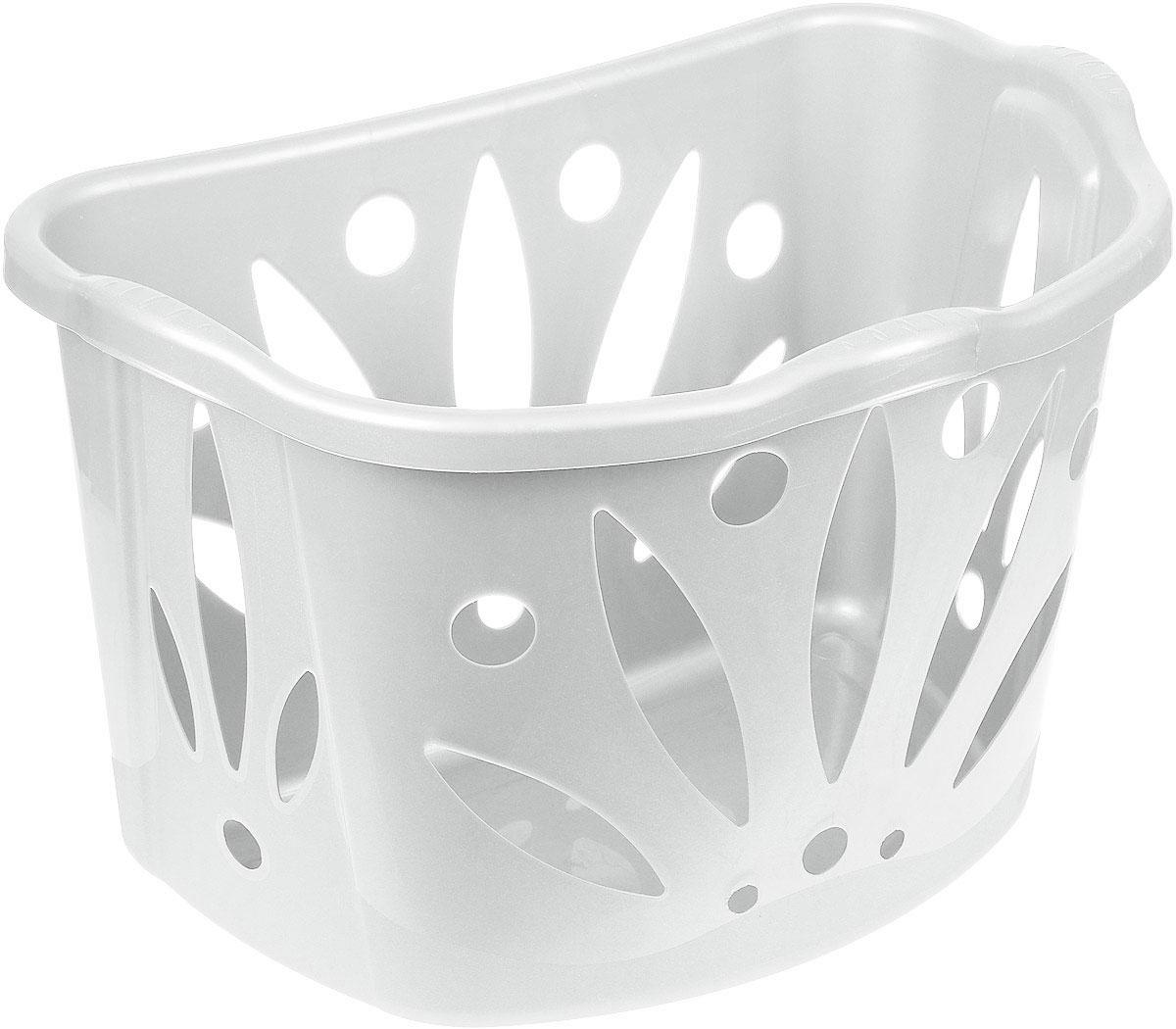 Корзина для белья Bama Bean, цвет: белый, 43 л70170Вместительная корзина для белья Bama Bean изготовлена из прочного цветного пластика. Она отлично подойдет для хранения белья перед стиркой. Специальные отверстия на стенках создают идеальные условия для проветривания. Изделие оснащено двумя ручками для удобной переноски. Такая корзина для белья прекрасно впишется в интерьер ванной комнаты.