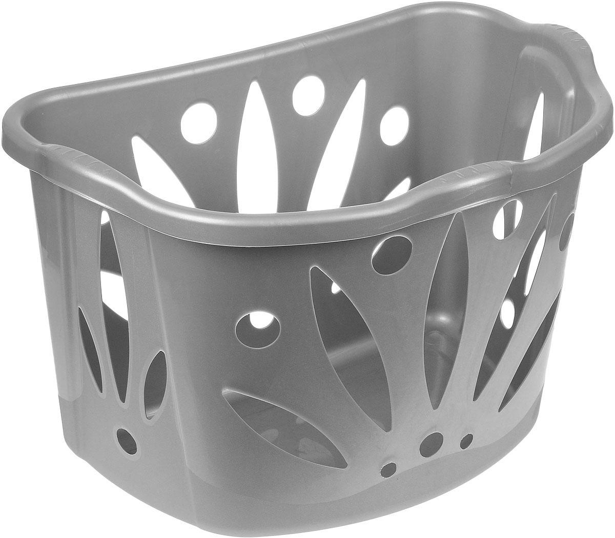 Корзина для белья Bama Bean, цвет: серый, 43 л70170_серыйВместительная корзина для белья Bama Bean изготовлена из прочного цветного пластика. Она отлично подойдет для хранения белья перед стиркой. Специальные отверстия на стенках создают идеальные условия для проветривания. Изделие оснащено двумя ручками для удобной переноски. Такая корзина для белья прекрасно впишется в интерьер ванной комнаты.