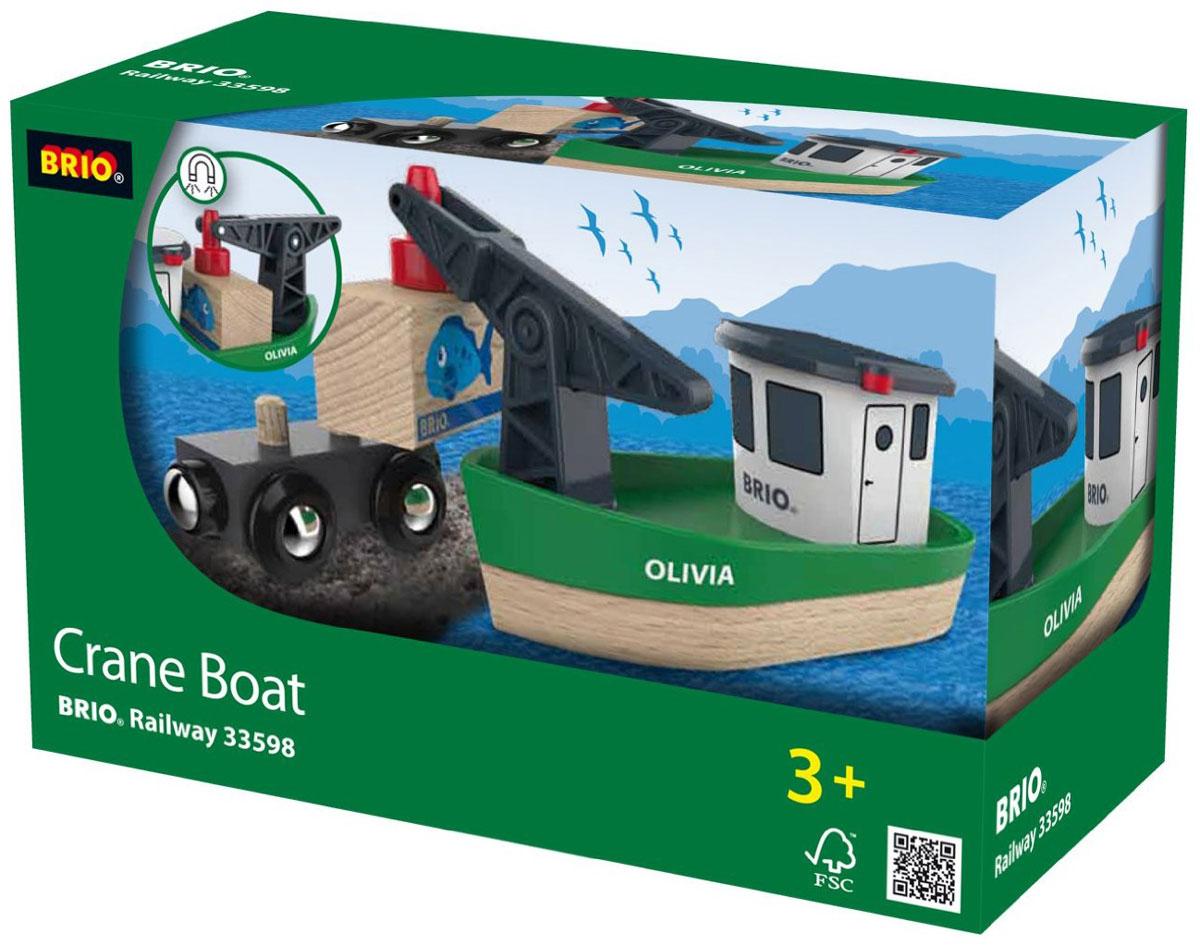 Brio Корабль с краном-погрузчиком33598Вашему ребенку обязательно понравится игрушка Brio Корабль с краном-погрузчиком. Симпатичный корабль оборудован погрузочным краном, который легко перенесет груз с палубы на вагон или обратно с помощью магнитного захвата. В комплект входит: корабль, вагон, груз. Набор совместим со всеми железными дорогами и паровозиками Brio.