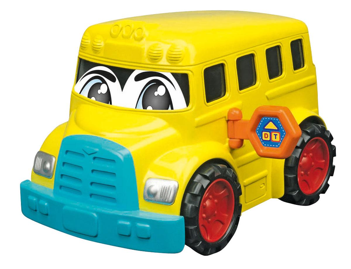 Dickie Toys Веселая машинка Автобус цвет желтый3315245Забавная машинка Автобус непременно привлечет внимание малыша благодаря яркому дизайну. На лобовом стекле машинка оформлена наклейкой в виде веселых глазок. Сбоку машинки имеется складная табличка оранжевого цвета. Игрушка выполнена из абсолютно безопасного высококачественного пластика. С такой машинкой ребенок может играть как дома, так и на улице. Игра с машинкой помогает развивать мелкую моторику, цветовое восприятие, координацию движений, а также являются хорошим средством для развлечения ребенка.
