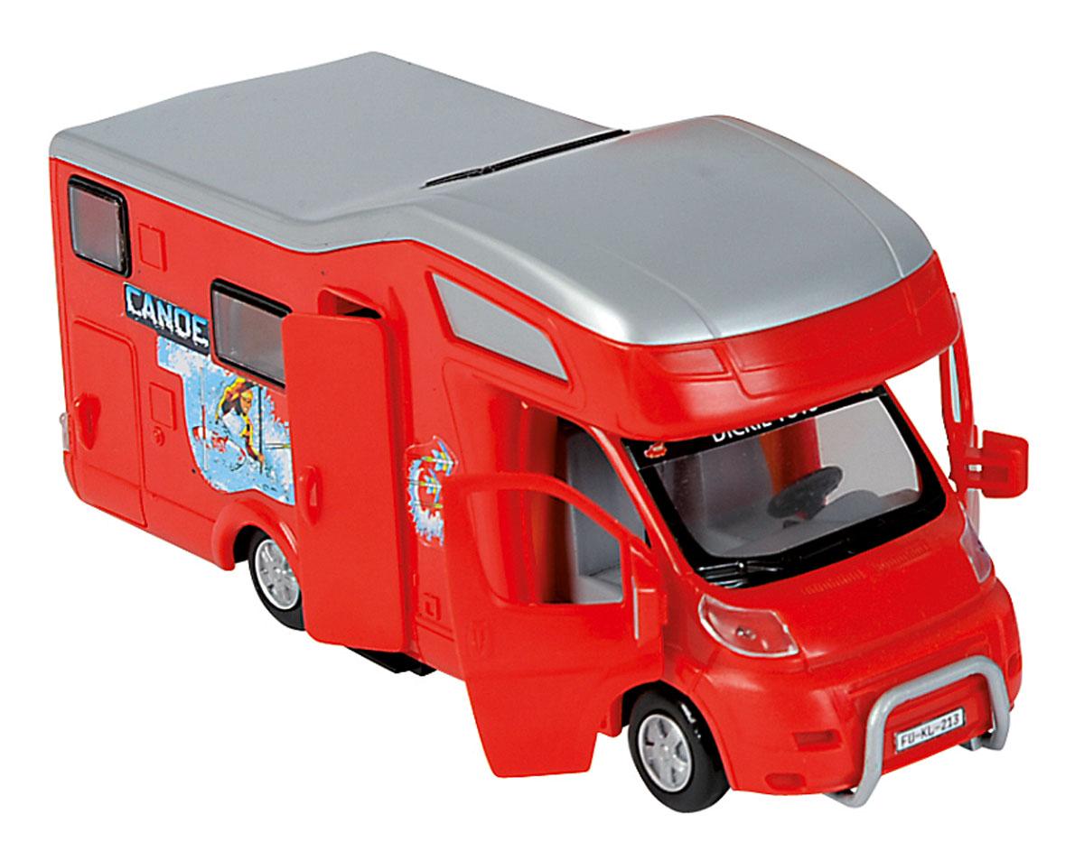 Dickie Toys Трейлер для отдыха цвет красный3314320_красныйЗабавная машинка Трейлер непременно привлечет внимание малыша благодаря яркому дизайну. Игрушка выполнена из прочного пластика в виде трейлера для отдыха и путешествий. Передние и боковая двери открываются, крыша у машинки снимается. Интерьер салона включает все необходимое для комфортного отдыха и долгого путешествия. Колеса машинки свободно вращаются. С такой машинкой ребенок может играть как дома, так и на улице. Игра с машинкой помогает развивать мелкую моторику, цветовое восприятие, координацию движений, а также являются хорошим средством для развлечения ребенка.