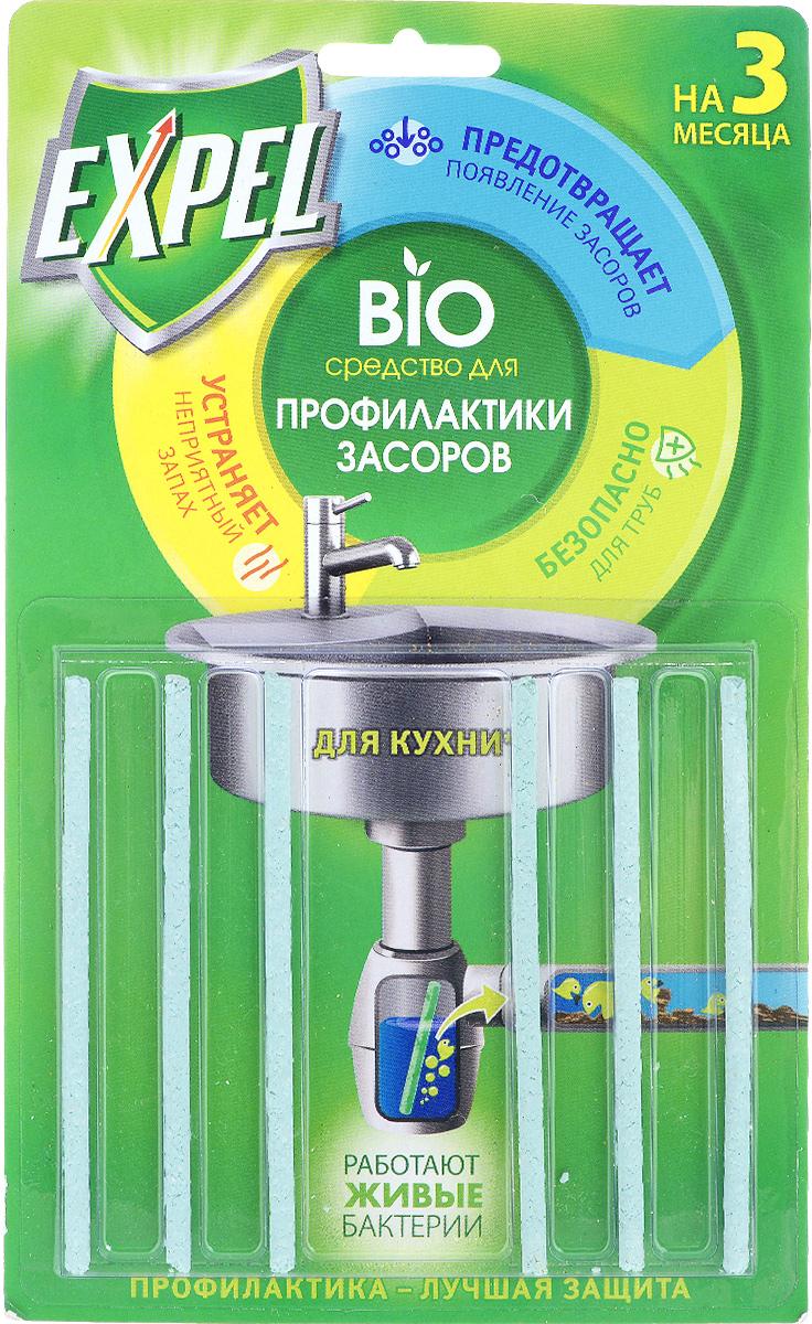 Bio средство для профилактики засоров Expel, для кухни, 6 шт38590403Bio средство для профилактики засоров Expel - высокоэффективная профилактики засоров и уменьшения неприятного запаха из раковины. Попадая в сифон, палочка постепенно растворяется в токе воды в течение 2-х недель, непрерывно высвобождая специально подобранные энзимы и культуры бактерий. Биокомпоненты перерабатывают пищевые отходы, препятствуя накоплению на стенках труб. Дозировка: по 1 палочке каждые 2 недели. Состав: =30%: полимерный носитель. Товар сертифицирован.
