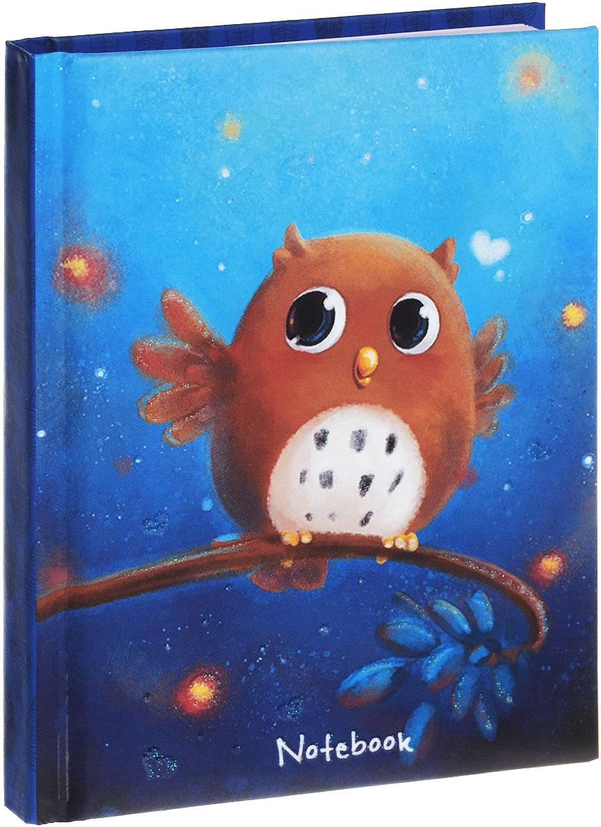 Unnikaland Записная книжка Милая сова 80 листовКЗБ6801531Записные книжки призваны хранить в себе важную информацию на долгое время, поэтому нужно обязательно позаботиться, чтобы она была удобной для постоянного ношения с собой, стильной - потому что, на этот аксессуар обязательно обратят внимание окружающие. Твердая обложка с блестками оформлена изображением совенка на фоне звездного неба. Внутренний блок выполнен из розовой офсетной бумаги в линейку. Записная книжка - отличный подарок для любой девочки.