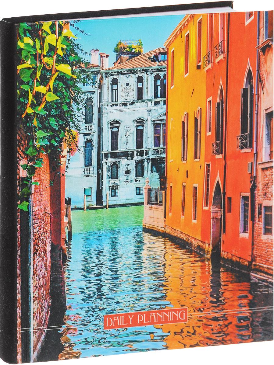 Listoff Ежедневник Яркая Венеция недатированный 160 листовЕЖИ16516003Оригинальный недатированный ежедневник Яркая Венеция - неотъемлемый атрибут любого современного делового человека. Настольный ежедневник позволит систематизировать входящую информацию и оптимизировать график встреч, не отходя от рабочего места. Гибкая и плотная обложка из прочного картона делает изделие практичным и удобным в использовании. Стильный принт с изображением городского пейзажа придает ежедневнику опрятный и оригинальный вид. Внутренний блок изготовлен из высококачественной бумаги и представлен 160 плотными листами, размеченными в линейку. Первая страница предназначена для записи личной информации, на последующих страницах расположен календарь с 2016 по 2019 год и справочная информация. Ежедневник надежно скреплен сшитым переплетом и имеет закладку-ляссе. Ежедневник Яркая Венеция станет функциональным и практичным аксессуаром, и займет достойное место на вашем рабочем столе благодаря своему изысканному дизайну. Нестандартный...