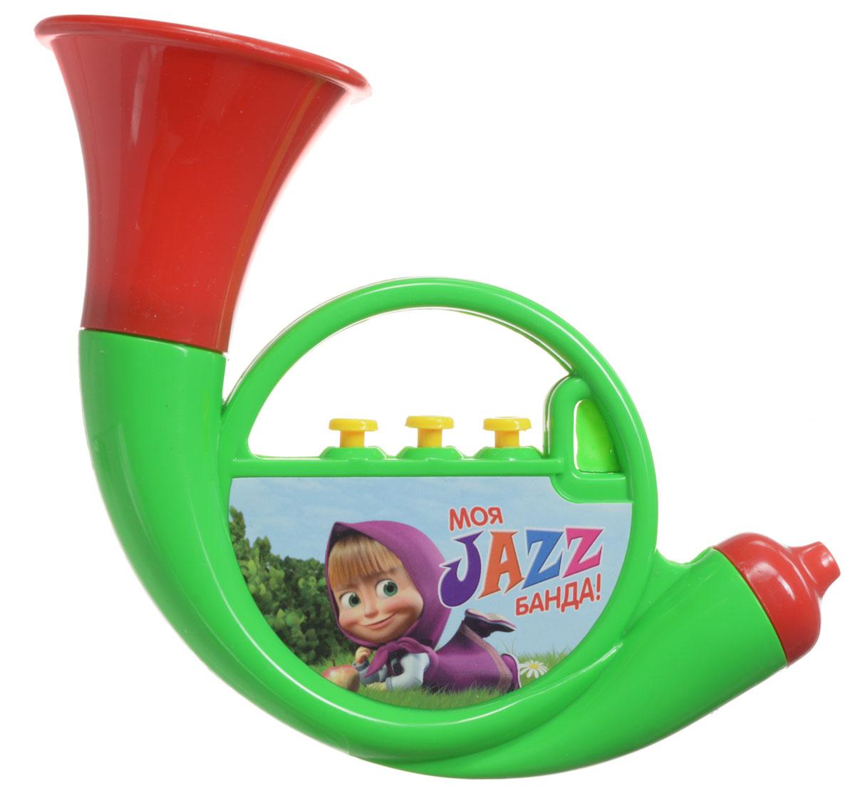 Маша и Медведь Музыкальная игрушка Труба цвет зеленыйGT5846_зеленыйМузыкальная игрушка Маша и Медведь Труба непременно порадует вашего малыша веселыми звуками. Эта яркая игрушка способствует развитию восприятия звука, мелкой моторики, цветовосприятия. Уже с малых лет у детей может начать проявляться интерес к музыке, но настоящие инструменты малышу давать рано, поэтому лучшим решением в этой ситуации послужат детские музыкальные инструменты. Дуем в трубочку, нажимаем на 3 кнопочки, и пытаемся наиграть какую-нибудь мелодию.