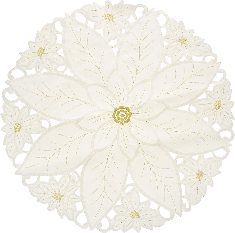 Салфетка Schaefer, круглая, цвет: молочный, диаметр 60 см. 07330-350-0407330-350-04Круглая салфетка Schaefer, выполненная из полиэстера, оформлена вышивками шелком по краю в виде цветов. Дизайнерские идеи немецких художников компании Schaefer воплощаются в текстильных изделиях, которые сделают ваш дом красивее и уютнее и не останутся незамеченными вашими гостями. Дарите себе и близким красоту каждый день! Диаметр салфетки: 60 см.