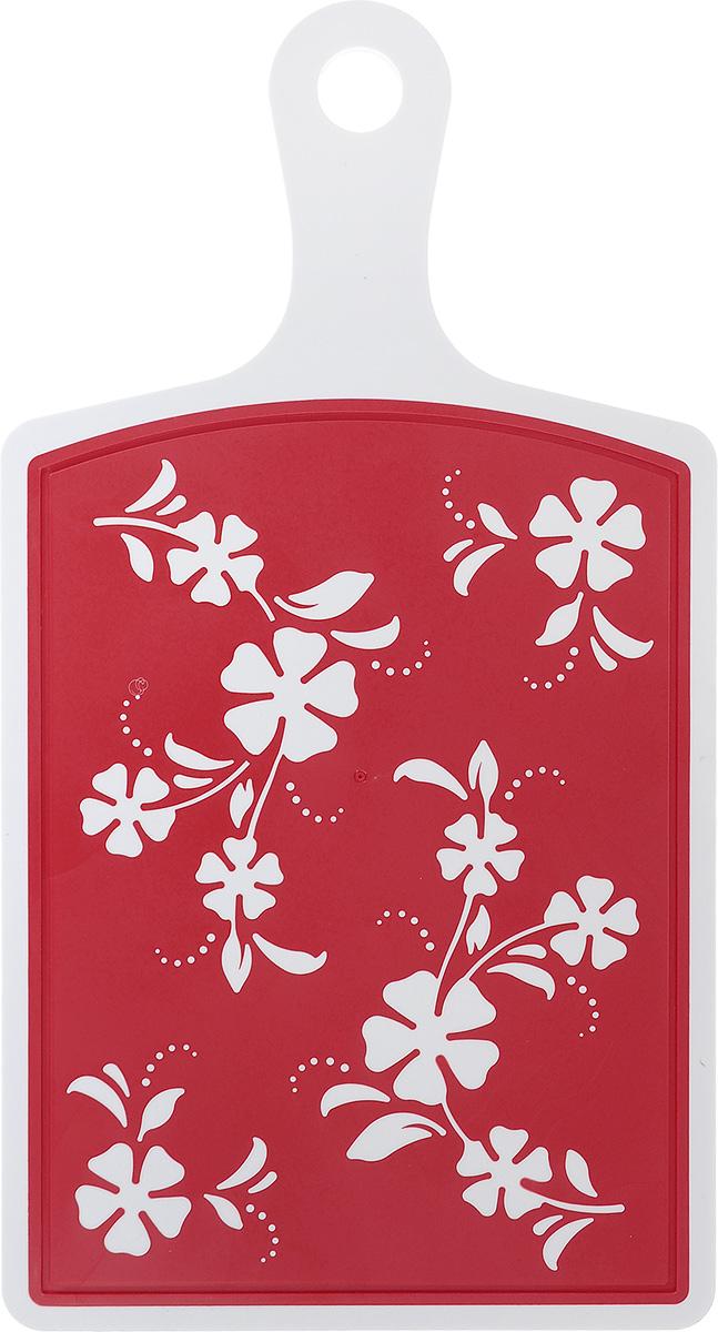 Доска разделочная Альтернатива Камелия, цвет: белый, красный, 40,5 х 21,5 смМ2902Разделочная доска Альтернатива Камелия, выполненная из прочного пластика, станет незаменимым атрибутом приготовления пищи. Доска устойчива к повреждениям и не впитывает запахи, идеально подходит для разделки мяса, рыбы, приготовления теста и для нарезки любых продуктов. Размер (с учетом ручки): 40,5 см х 21,5 см х 0,6 см. Длина ручки: 12 см.