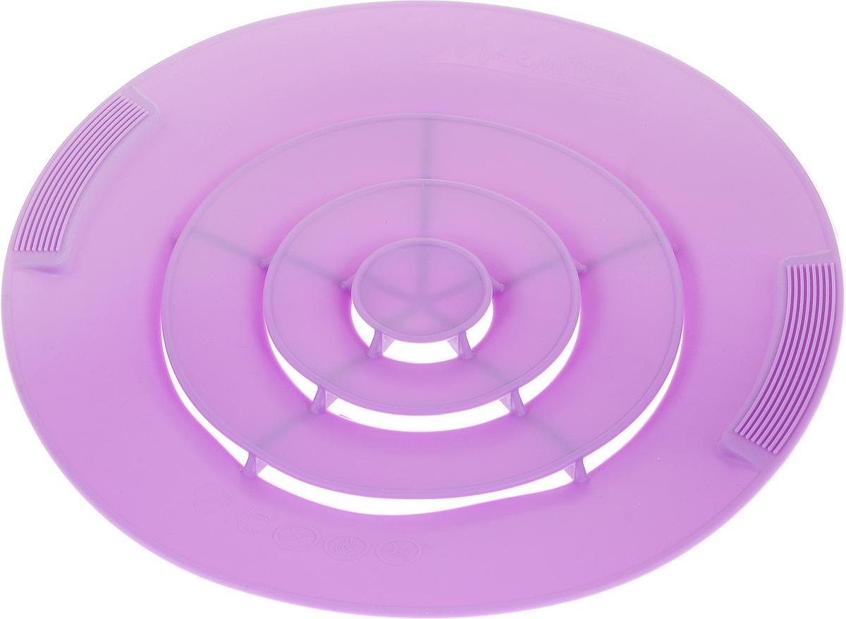 """Крышка силиконовая от накипи """"Marmiton"""", цвет: сиреневый. Диаметр 28 см"""