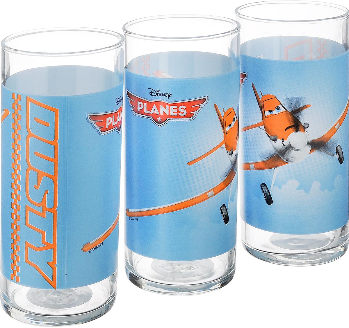 Набор стаканов Luminarc Disney Planes, 300 мл, 3 штJ0799Набор Luminarc Disney Planes состоит из 3 стаканов, выполненных из высококачественного стекла. Стаканы предназначены для подачи сока, воды, компота и других напитков. Декорированные ярким рисунком, они сочетают в себе элегантный дизайн и функциональность. Благодаря такому набору пить напитки будет еще приятнее. Можно мыть в посудомоечной машине. Диаметр стакана по верхнему краю: 6 см. Высота стакана: 13,5 см. Диаметр основания стакана: 6 см.