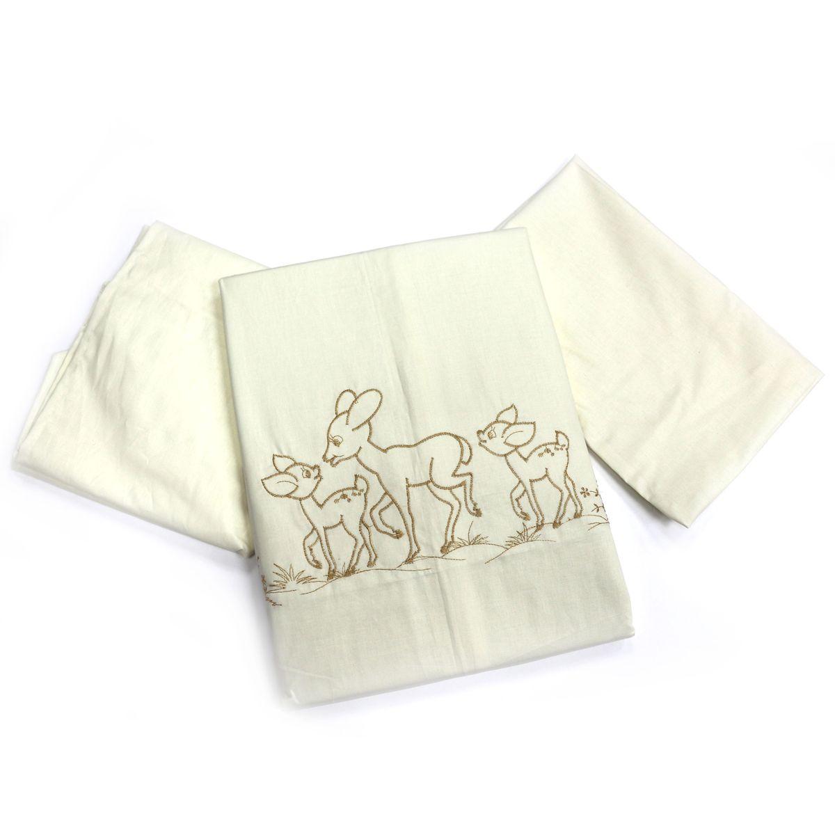 Топотушки Комплект детского постельного белья Бамбино цвет бежевый4630008873922Изысканный и нежный комплект! Безукоризненное сочетание стиля и нежности создают комфорт Вашему малышу и обеспечат ему спокойный и здоровый сон. Сменный комплект постельного белья из 3 предметов для детской кроватки. Комплект создает для Вашего ребенка уют, комфорт и безопасную среду с рождения; современный дизайн и цветовые сочетания помогают ребенку адаптироваться в новом для него мире. Комплекты «Топотушки» хорошо вписываются в интерьер, как детской комнаты, так и в спальни родителей. Как и все изделия «Топотушки» данный комплект отражает самые последние технологии, является безопасным для малыша и экологичным. Российское происхождение комплекта гарантирует стабильно высокое качество, соответствие актуальным пожеланиям потребителей, конкурентоспособную цену. Наволочка 40х60см, пододеяльник 147х112см, простынь на резинке 120х60см