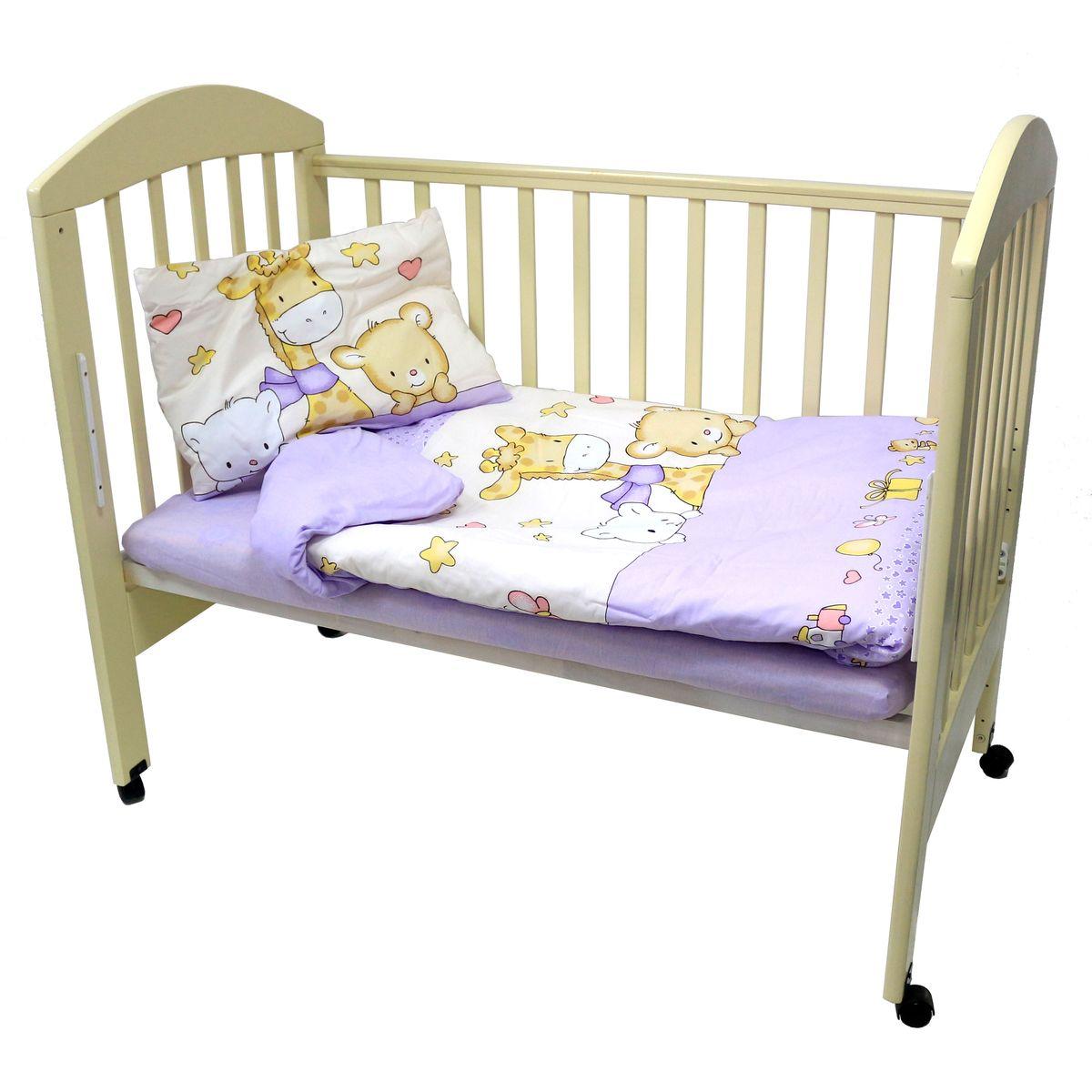 Топотушки Комплект детского постельного белья Детский Мир цвет сиреневый 3 предмета