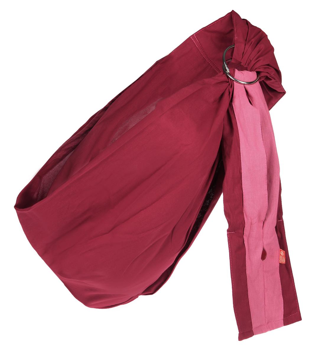 Чудо-Чадо Слинг с кольцами Бабочка цвет бордовый размер S (до 46)