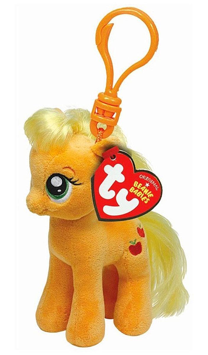 TY Мягкая игрушка-брелок Пони Apple Jack 10 см41101Мягкая игрушка-брелок Пони Apple Jack станет самым лучшим другом вашему малышу. У пони мягкая шерстка, оригинальный окрас и огромные наклеенные глазки. С помощью пластмассового карабина брелок можно пристегнуть на пояс, к рюкзаку, сумке, повесить на связку ключей. Яркое, интересное оформление игрушки притягивает взгляд! Это отличный подарок для любого ребенка!