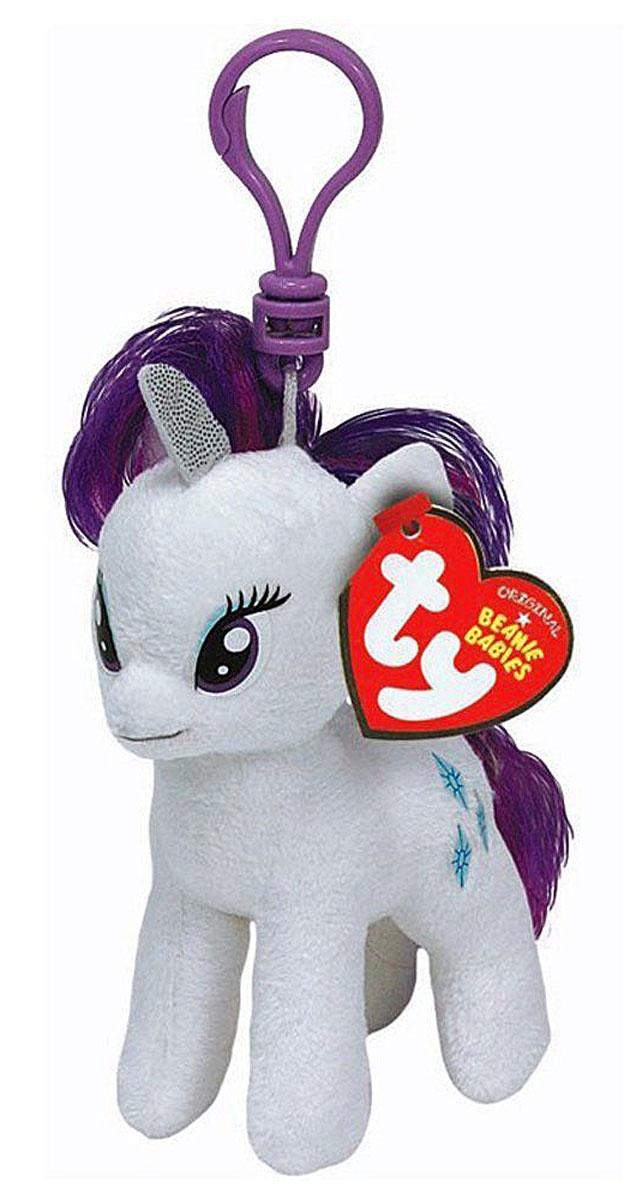 TY Мягкая игрушка-брелок Пони Rarity 10 см