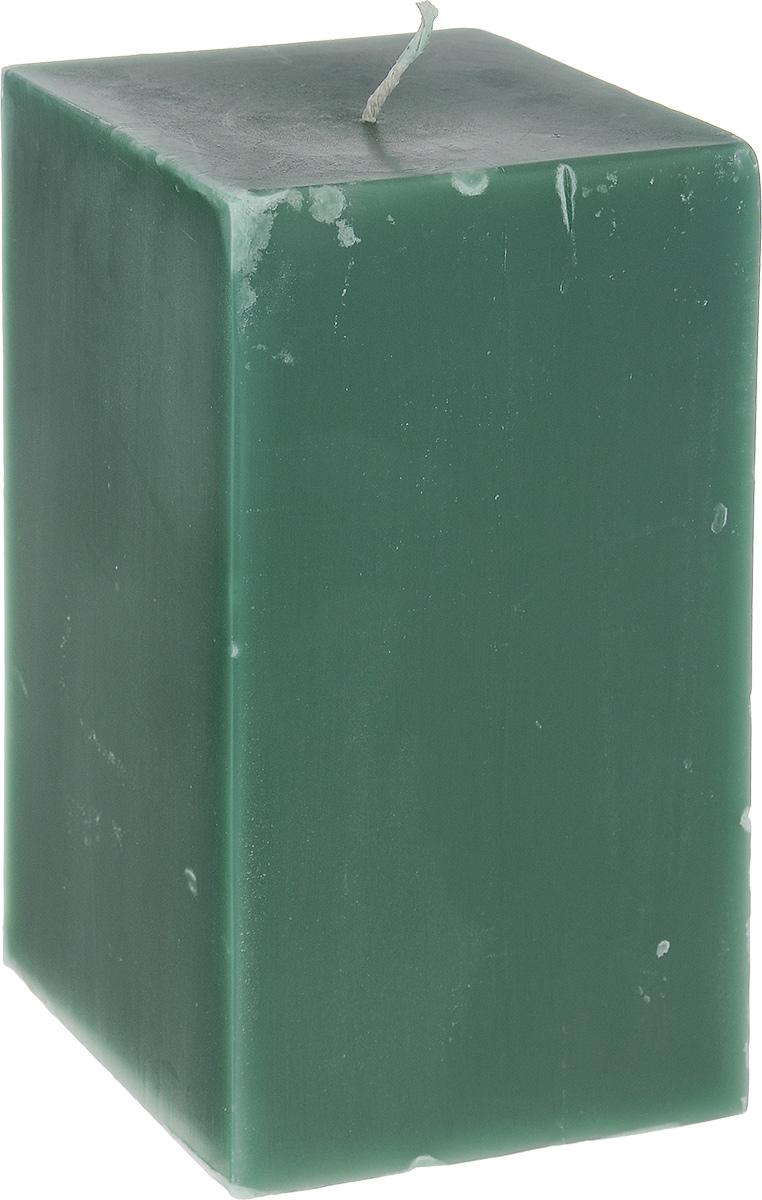 Свеча декоративная Proffi Квадрат, цвет: зеленый, 9,5 х 9,5 х 17,5 смPH3407Свеча Proffi Квадрат выполнена из парафина и стеарина в классическом стиле. Изделие порадует вас ярким дизайном. Такую свечу можно поставить в любое место, и она станет ярким украшением интерьера. Свеча Proffi Квадрат создаст незабываемую атмосферу, будь то торжество, романтический вечер или будничный день.