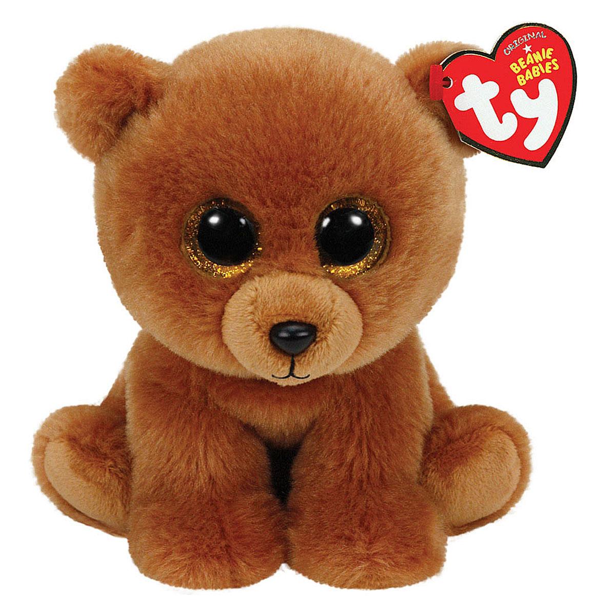 TY Мягкая игрушка Мишка Brownie 27 см90222Мягкая игрушка Мишка Brownie не оставит вас равнодушным и вызовет улыбку у каждого, кто ее увидит. Игрушка изготовлена из безопасных, приятных на ощупь материалов в виде милого сидячего медвежонка с большими глубокими глазками. Глазки и нос игрушки выполнены из пластика. Пластиковые гранулы, используемые при набивке игрушки, способствуют развитию мелкой моторики рук ребенка. Симпатичная игрушка будет радовать вашего ребенка, а также способствовать полноценному и гармоничному развитию его личности. Это отличный подарок как для любого ребенка, так и взрослого человека!