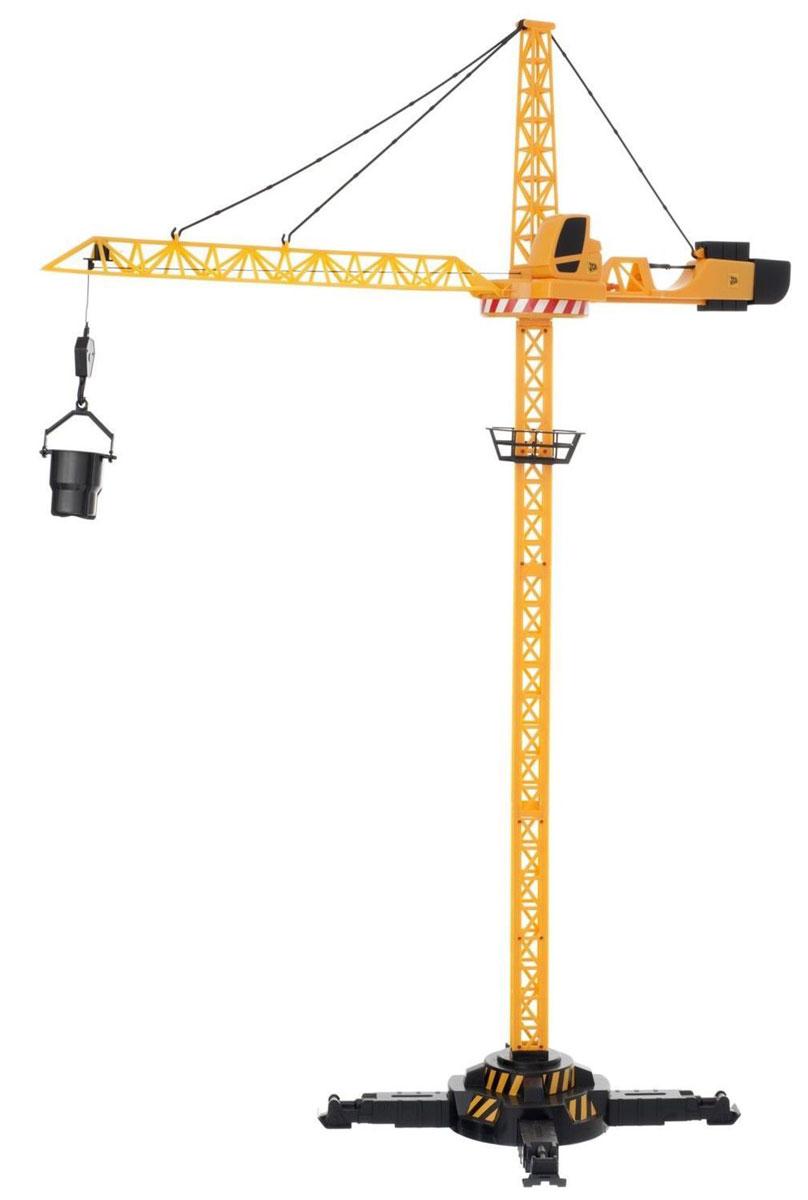 HTI Башенный кран на дистанционном управлении JCB1415390.V15Почувствуй себя настоящим строителем с башенным краном JCB на радиоуправлении! Радиоуправляемый башенный кран JCB сделан из высококачественной прочной пластмассы, что позволит ещё дольше играть с ним, не боясь поломок. Игрушка высотой целых 120 см является уменьшенной копией своего прототипа - современной строительной техники JCB. Управляй башенным краном с помощью пульта! Поднимай и опускай на нужную высоту строительные материалы, двигай стрелу крана вперед или назад, поворачивай кран вокруг своей оси и аккуратно опускай кубики на нужное место. Построй свой уникальный многоэтажный дом! Кран имеет прочную устойчивую конструкцию, что не позволит ему случайно упасть при транспортировке грузов. Кроме того, кран очень легко и быстро собирается и разбирается - достаточно отцепить три крючка, и стрела сложится. В комплекте вместе с краном идут разные приспособления для подъёма грузов, пульт управления, а также наклейки для украшения. Удивите своего маленького...