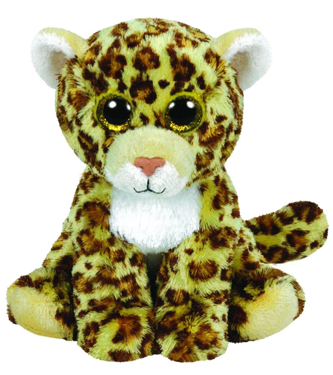 TY Мягкая игрушка Леопард Spotty 16 см42101Мягкая игрушка Леопард Spotty не оставит вас равнодушным и вызовет улыбку у каждого, кто ее увидит. Игрушка изготовлена из безопасных, приятных на ощупь материалов в виде милого леопарда с большими глазками и ярким окрасом. Глазки и нос игрушки выполнены из пластика. Пластиковые гранулы, используемые при набивке игрушки, способствуют развитию мелкой моторики рук ребенка. Симпатичная игрушка будет радовать вашего ребенка, а также способствовать полноценному и гармоничному развитию его личности. Это отличный подарок как для любого ребенка, так и взрослого человека!
