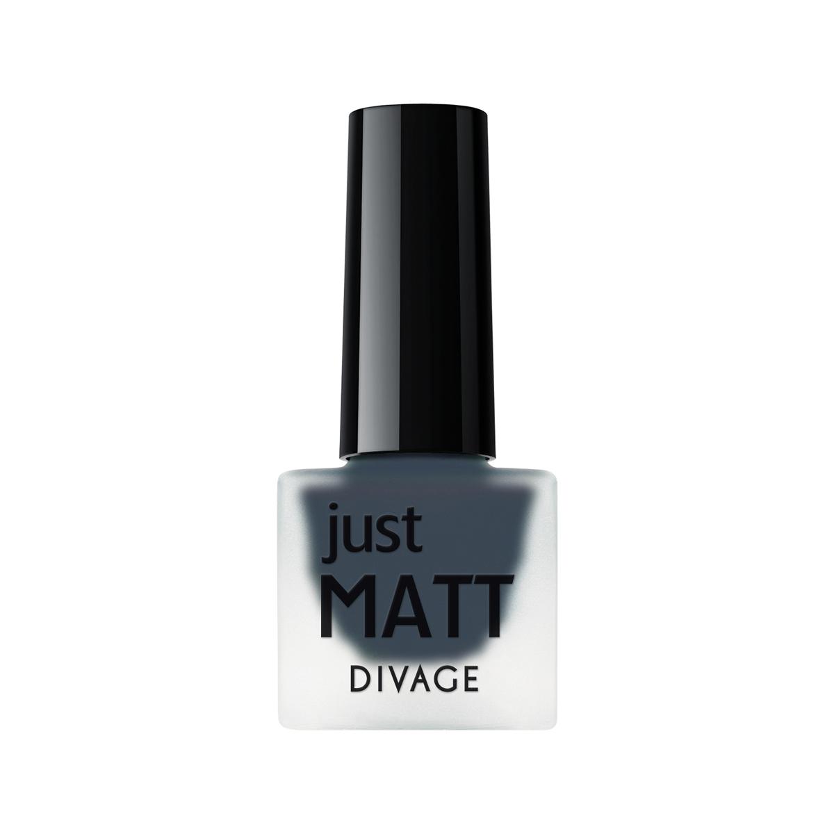 DIVAGE Лак для ногтей JUST MATT, тон № 5601, 7 мл215502Лак для ногтей Divage Just Matt с матовым эффектом имеет легкую бархатистую текстуру (Soft Touch) и удобный мини формат упаковки. Наносится идеально ровно, визуально сглаживая неровности ногтевой пластины. Характеристики: Объем: 7 мл. Тон: №5601. Товар сертифицирован.