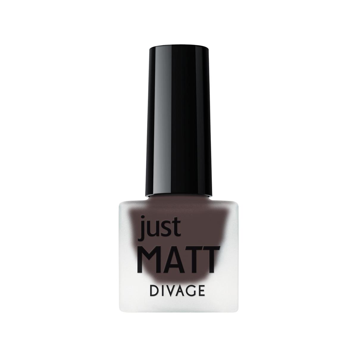DIVAGE Лак для ногтей JUST MATT, тон № 5602, 7 мл215519Лак для ногтей Divage Just Matt с матовым эффектом имеет легкую бархатистую текстуру (Soft Touch) и удобный мини формат упаковки. Наносится идеально ровно, визуально сглаживая неровности ногтевой пластины.