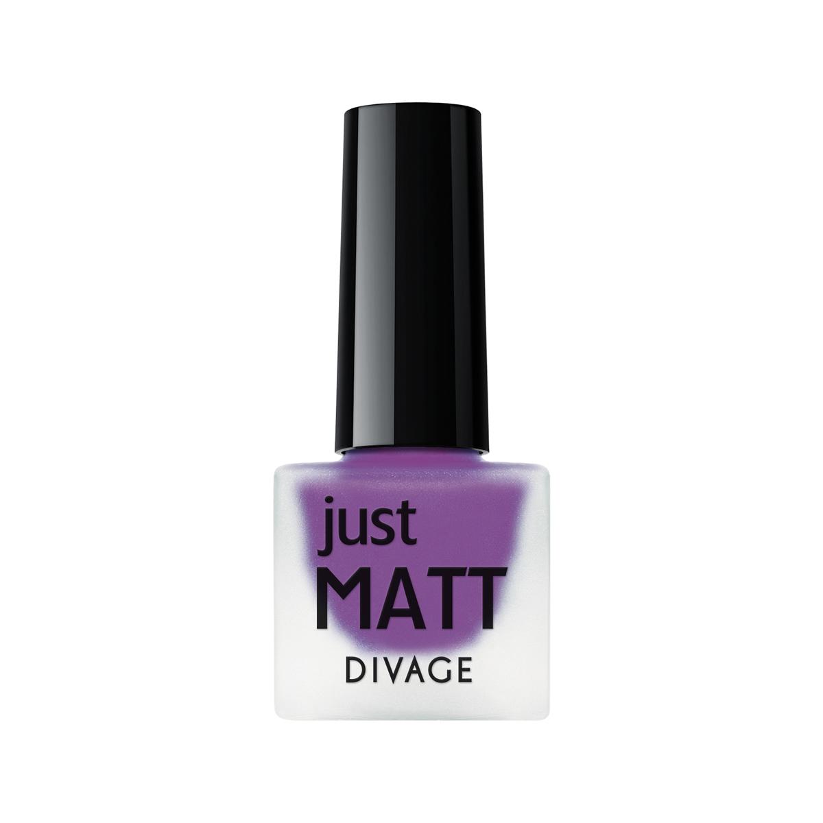 DIVAGE Лак для ногтей JUST MATT, тон № 5617, 7 мл215663Лак для ногтей Divage Just Matt с матовым эффектом имеет легкую бархатистую текстуру (Soft Touch) и удобный мини формат упаковки. Наносится идеально ровно, визуально сглаживая неровности ногтевой пластины.