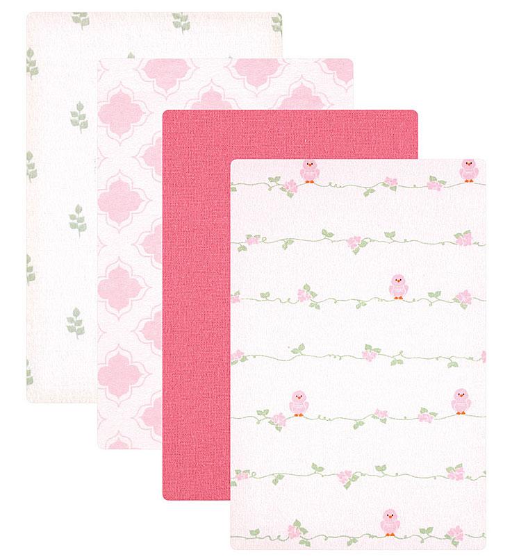 Пеленки для девочек Luvable Friends, 4 шт, цвет: розовый. 40146. Размер 71х71 см40146Комплект из четырёх разноцветных фланелевых пелёнок - незаменимый предмет по уходу за малышами на каждый день. Фланель имеет мягкую согревающую фактуру. Спокойные, стильные расцветки. Отличный выбор!