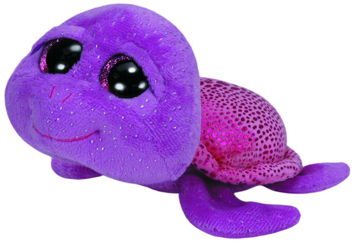 TY Мягкая игрушка Черепашка Slow-Poke 27 см37000Мягкая игрушка Черепашка Slow-Poke не оставит вас равнодушным и вызовет улыбку у каждого, кто ее увидит. Игрушка изготовлена из безопасных, приятных на ощупь материалов в виде милой фиолетовой черепашки с большими пластиковыми глазками. Пластиковые гранулы, используемые при набивке игрушки, способствуют развитию мелкой моторики рук ребенка. Симпатичная игрушка будет радовать вашего ребенка, а также способствовать полноценному и гармоничному развитию его личности. Великолепное качество исполнения делает эту игрушку чудесным подарком к любому празднику как для ребенка, так и взрослого человека!