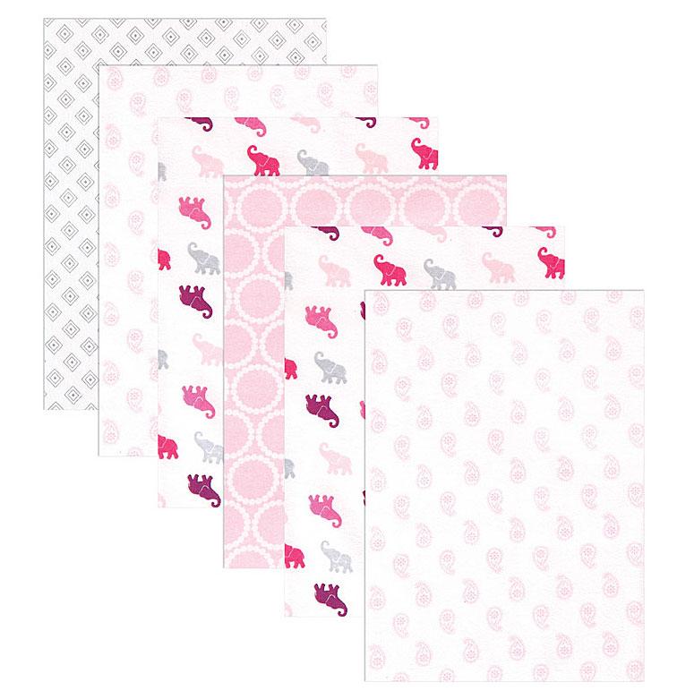 Пеленки для девочек Luvable Friends, 6 шт, цвет: розовый. 40156. Размер 71х71 см40156Пелёнки в комплекте для новорождённой от Luvable Friends. Изготовлены из необыкновенно мягкой и приятной на ощупь фланели. Каждая пелёнка в комплекте имеет уникальный дизайн. Пелёнки идеально подходят на каждый день, их можно использовать для укутывания малыша после ванны или на время сна, а также как покрывальце во время кормления.