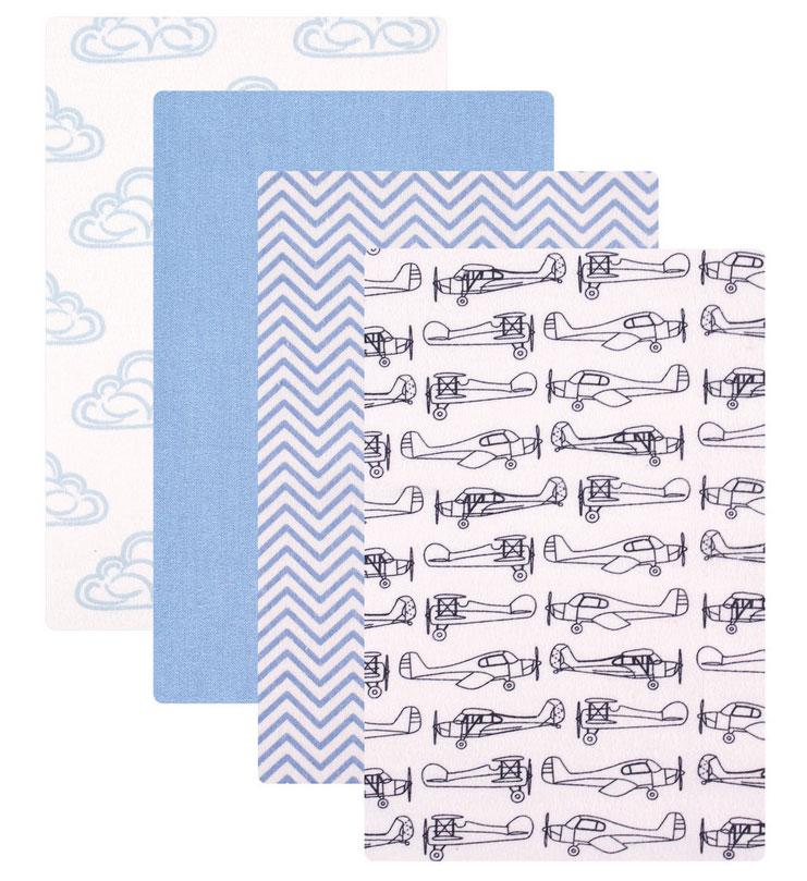 Пеленки для мальчиков Hudson Baby, 4 шт, цвет: голубой. 50653. Размер 76х91 см50653Прекрасный подарочный комплект для новорождённых включает 4 пелёнки. Изготовлены из необыкновенно мягкой фланели, приятной при соприкосновении с нежной кожей малыша. Каждая пелёнка в комплекте имеет свой неповторимый дизайн. Пелёнки многофункциональны: их можно использовать не только для пеленания, но и во время кормления, сна и отдыха малыша. Комплект перевязан яркой подарочной лентой, поставляется на вешалке.