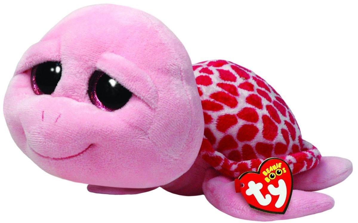 TY Мягкая игрушка Черепашка Shellby 16 см36110Мягкая игрушка Черепашка Shellby не оставит вас равнодушным и вызовет улыбку у каждого, кто ее увидит. Игрушка изготовлена из безопасных, приятных на ощупь материалов в виде милой розовой черепашки с большими пластиковыми глазками. Пластиковые гранулы, используемые при набивке игрушки, способствуют развитию мелкой моторики рук ребенка. Симпатичная игрушка будет радовать вашего ребенка, а также способствовать полноценному и гармоничному развитию его личности. Великолепное качество исполнения делает эту игрушку чудесным подарком к любому празднику как для ребенка, так и взрослого человека!